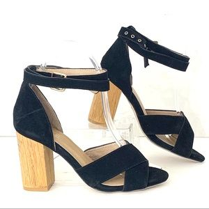 Raye by Revolve Lily Block Wooden Heel Sandals